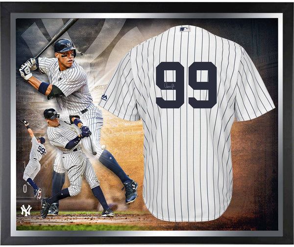 best service 811ff 2b94f Aaron Judge New York Yankees Framed Autographed White Authentic Jersey  Collage