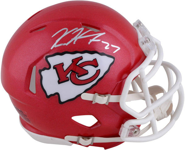 0a140f62 Kareem Hunt Kansas City Chiefs Autographed Riddell Speed Mini Helmet