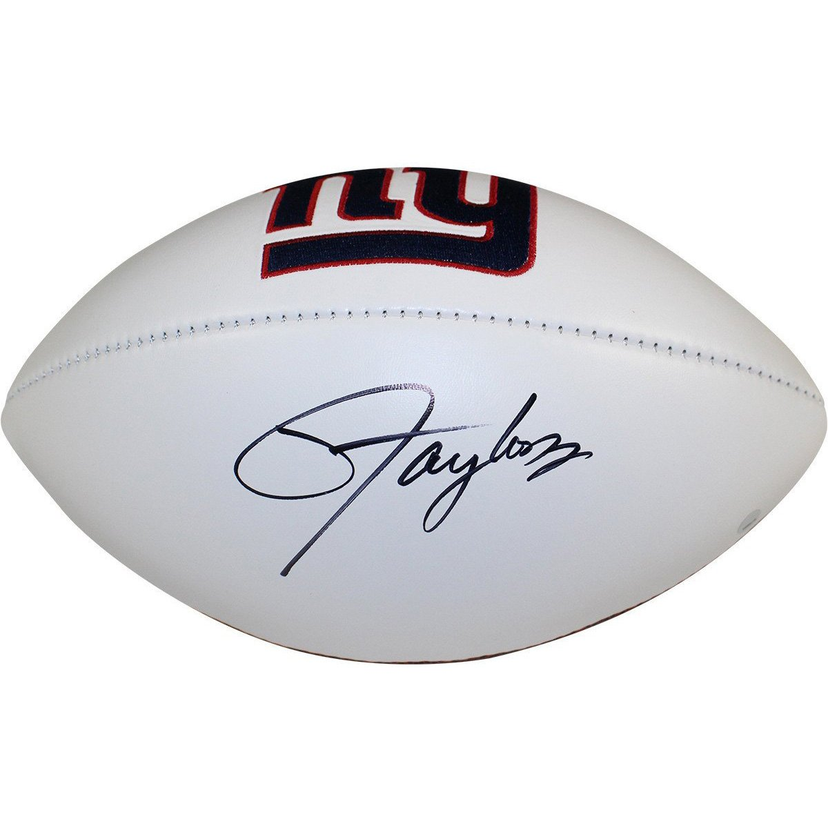 6eac7a1dd Lawrence Taylor Signed New York Giants White Panel Jarden Signature  Football ...
