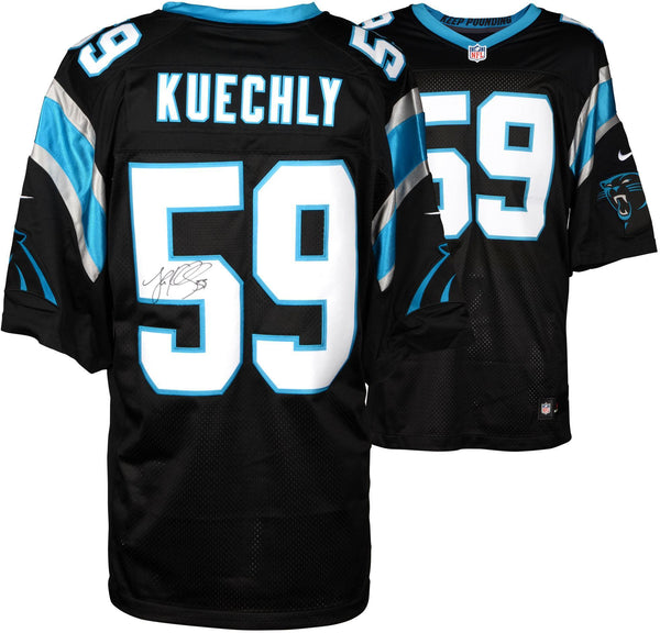 new product 90947 fd8ee Luke Kuechly Carolina Panthers Autographed Nike Limited Black Jersey