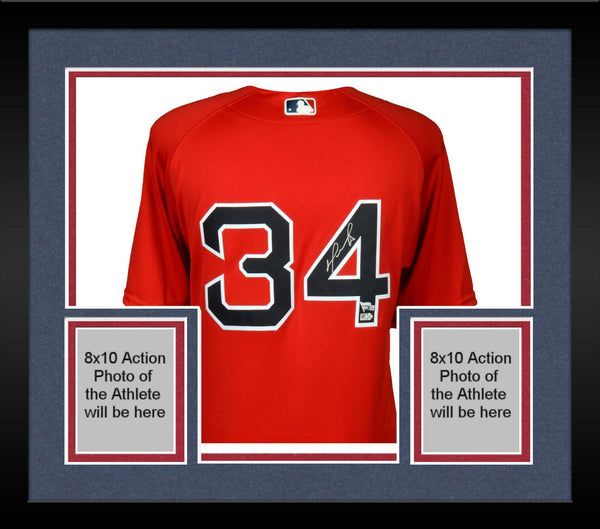 super popular 7b070 145a4 Framed David Ortiz Boston Red Sox Autographed Majestic Authentic Red Jersey