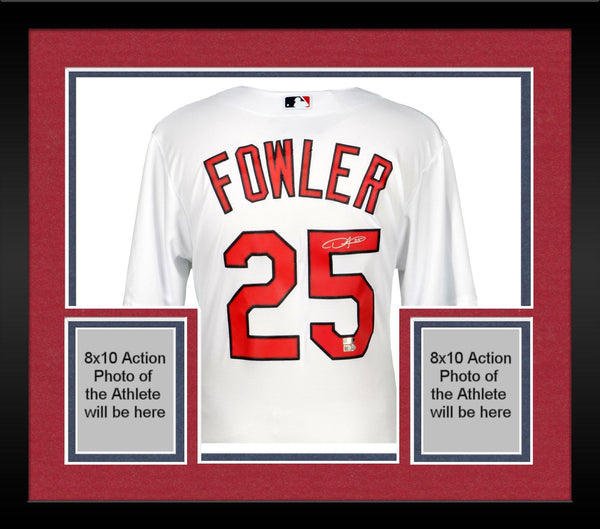 cheap for discount e68ef 7a46f Framed Dexter Fowler St. Louis Cardinals Autographed Majestic White Replica  Jersey