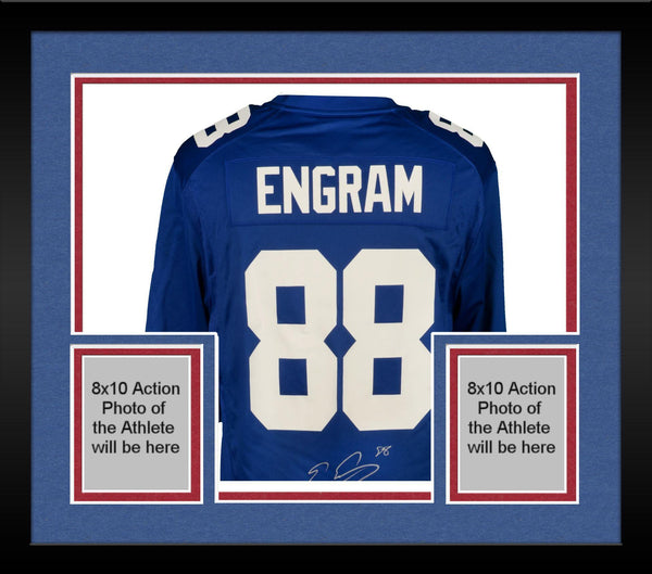 quality design b9ad9 07d62 Framed Evan Engram New York Giants Autographed Nike Blue Game Jersey