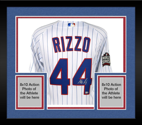 quality design fe906 ac5da Framed Anthony Rizzo Chicago Cubs 2016 MLB World Series Champions  Autographed Majestic White Authentic World Series Jersey