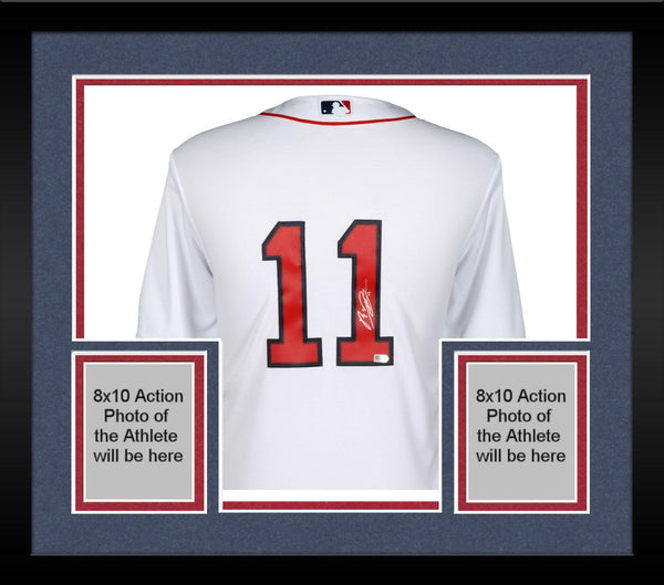 sale retailer e5c46 f7d03 Framed Rafael Devers Boston Red Sox Autographed Majestic White Replica  Jersey
