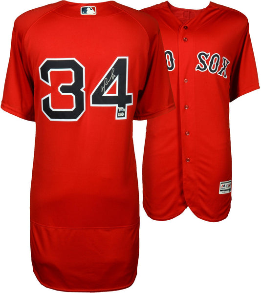 half off 617b0 75ef8 David Ortiz Boston Red Sox Autographed Majestic Authentic Red Jersey
