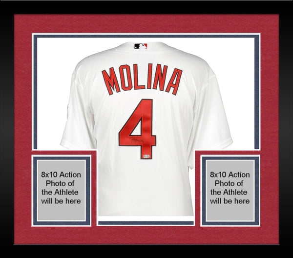 the best attitude 0232e b9c0c Framed Yadier Molina St. Louis Cardinals Autographed White Authentic Jersey