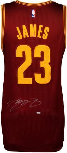 sale retailer 82dad b90d7 Framed LeBron James Cleveland Cavaliers Autographed Red Authentic Jersey -  Upper Deck