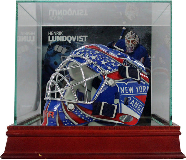 Henrik Lundqvist Background Glass Mini Helmet Case Steiner Sports