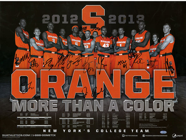 2012 2013 Syracuse University Basketball Team Signed Roster Lineup