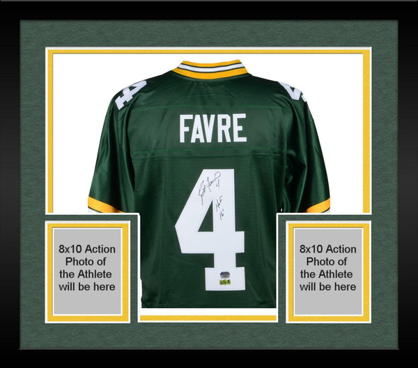 online retailer 23f71 86bee Framed Brett Favre Green Bay Packers Autographed Green Pro-Line Jersey with