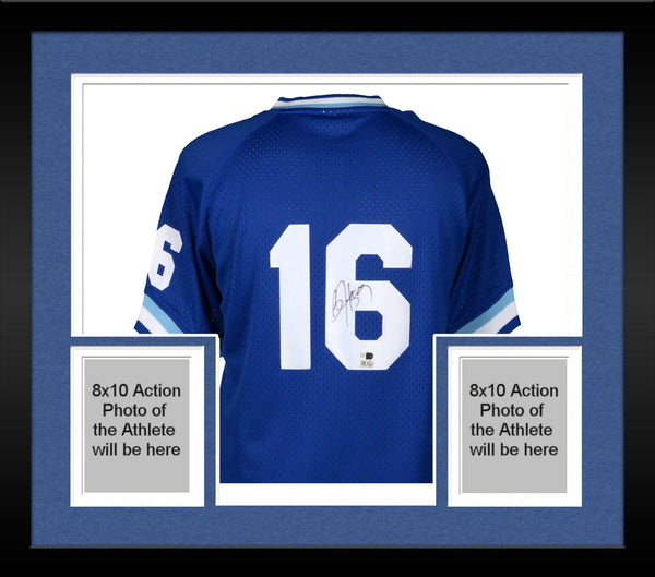 various colors def24 8b7fb Framed Bo Jackson Kansas City Royals Autographed Mitchell and Ness Blue  Batting Practice Replica Jersey