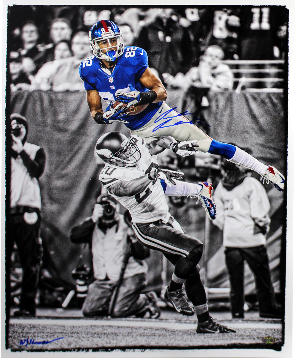 Rueben Randle Signed Touchdown Catch Black and White w  Color Accents 8x10  Photo (Signed by William Hauser) ... a3b46e1d4