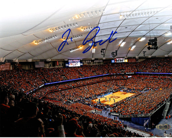 Jim Boeheim Signed Carrier Dome Attendance Record 8x10 Photo Signed