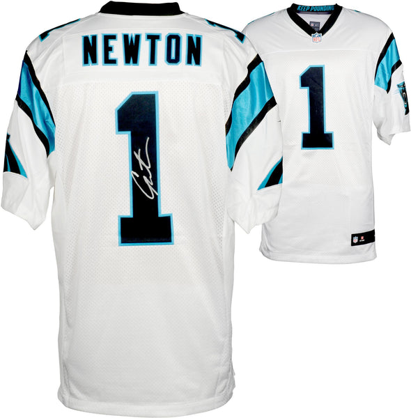 e56adec76 Cam Newton Carolina Panthers Autographed Nike Elite White Jersey – Steiner  Sports