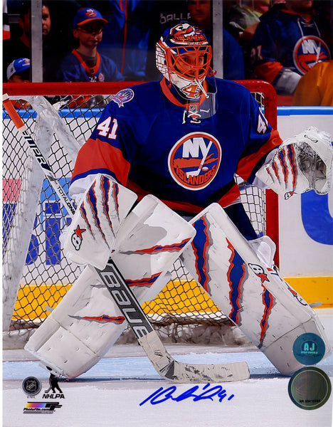 competitive price a6a9e 9d104 Jaroslav Halak New York Islanders Signed In Goal 8x10 Photograph (AJ Sports  Holo Only)