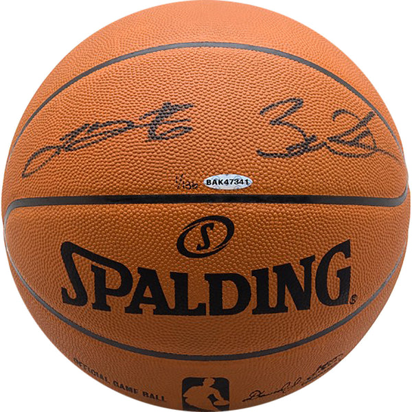 the best attitude 03296 b7bb4 Lebron James/Dwayne Wade Dual Autographed Official NBA Basketball - Limited  to 136