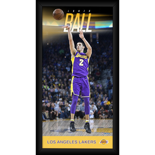 d464176ad Lonzo Ball Los Angeles Lakers Player Profile Framed 10x20 Photo Collag –  Steiner Sports