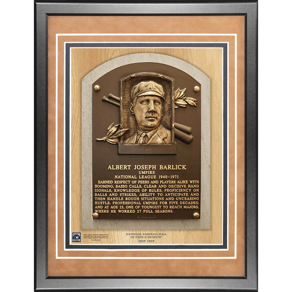 Al Barlick 11x14 Framed Baseball Hall of Fame Plaque – Steiner Sports