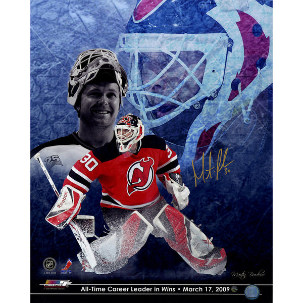 sports shoes ef237 2d7d0 Martin Brodeur New Jersey Devils Signed All Time Wins Leader 16x20  Photograph