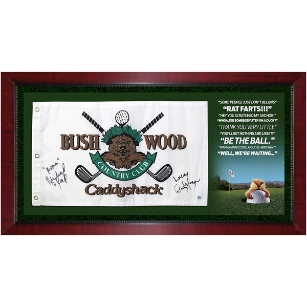 Caddyshack Movie Quotes Framed 16x32 Collage with Signed Bushwood Country  Club Flag