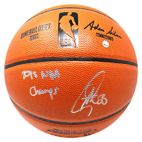 27cad79c027 Stephen Curry Golden State Warriors Signed Spalding NBA Indoor-Outdoor  Basketball Inscribed