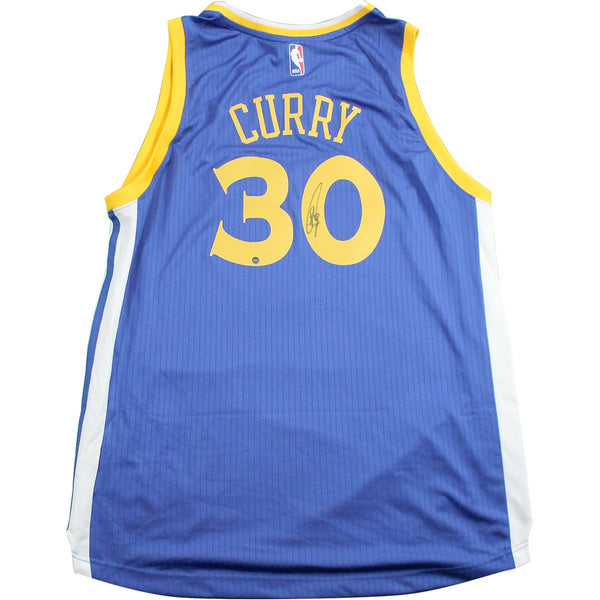 53a5c35d3 Stephen Curry Golden State Warriors Signed Blue Adidas Swingman Jersey –  Steiner Sports