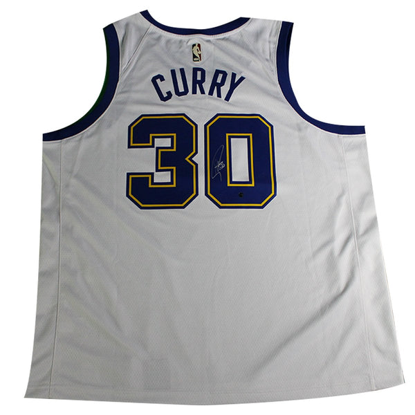 80d4b94afba5 Stephen Curry Signed Golden State Warriors Nike White Fashion Current –  Steiner Sports