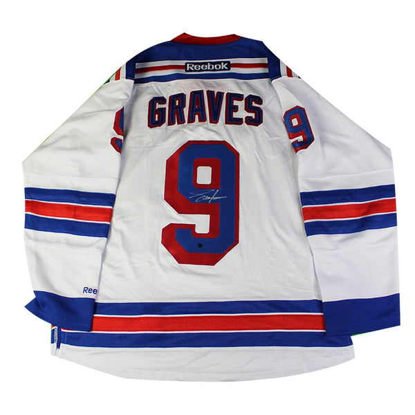 buy popular cff4c c0df4 Adam Graves New York Rangers Signed White Premier Jersey With Alternate  Captain