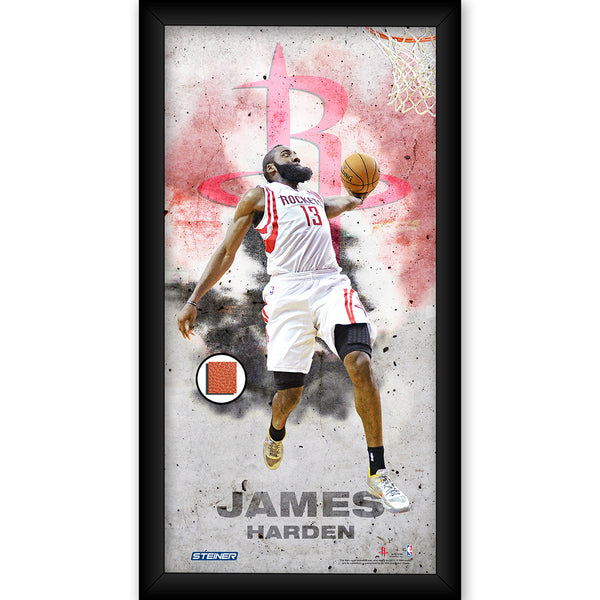 official photos f063f 62394 James Harden Houston Rockets Player Profile Framed 10x20 Photo Collage w/  Game Used Basketball Piece
