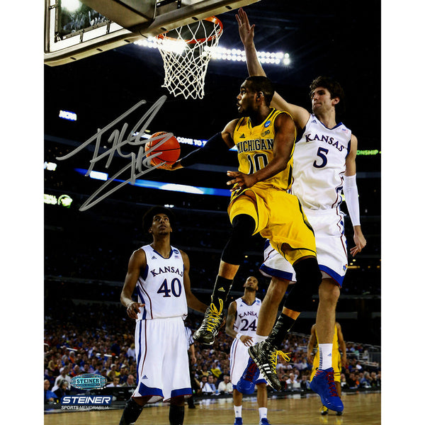 hot sale online dd2b3 78ead Tim Hardaway Jr Signed Michigan Against Kansas 8x10 Photo