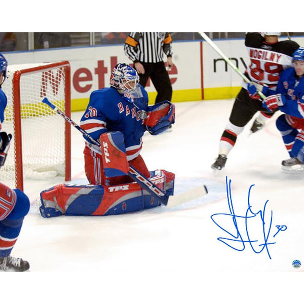 Henrik Lundqvist Signed 1st Career Win 16x20 Photo Limited Edition Of 30