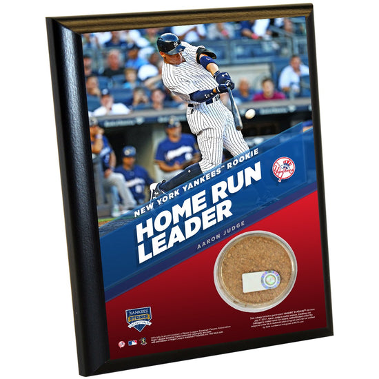 b5d3c69fc Aaron Judge New York Yankees Record 30th Rookie HR 4x6 Plaque with Game  Used Yankee Stadium