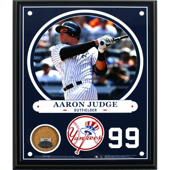 8a50b976d Aaron Judge New York Yankees 8x10 Plaque with Game Used Yankee Stadium Dirt