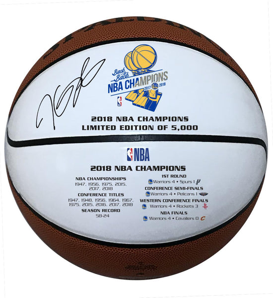 709631bcf57 Kevin Durant Golden State Warriors Signed 2018 White Panel Championshi –  Steiner Sports