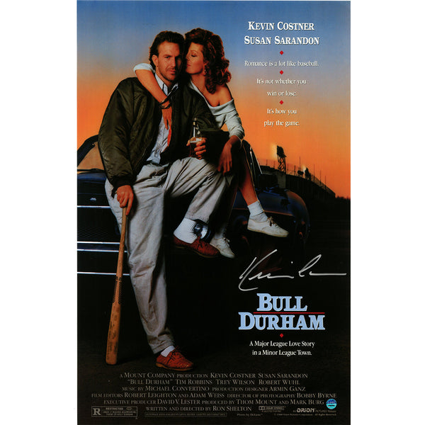 kevin costner signed bull durham 11x17 movie poster steiner sports