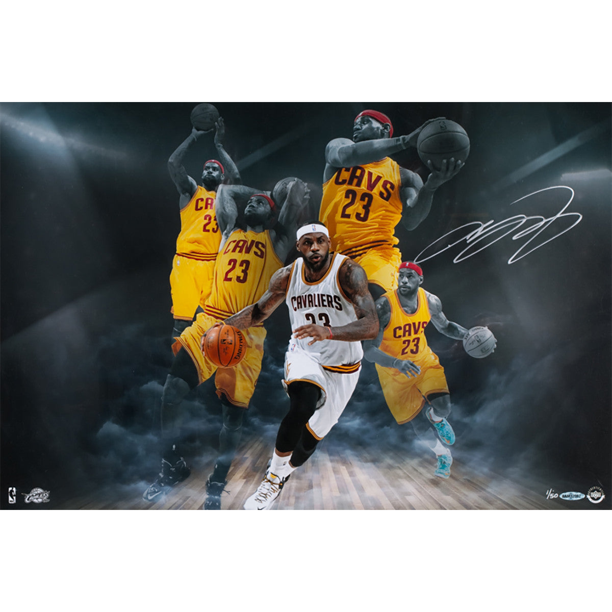 062009d1206 Lebron James Imaginative 16x24 Photo (LE 50)  Price   850.00. Framed Kyrie  Irving Cleveland Cavaliers Autographed Navy Swingman Jersey ...
