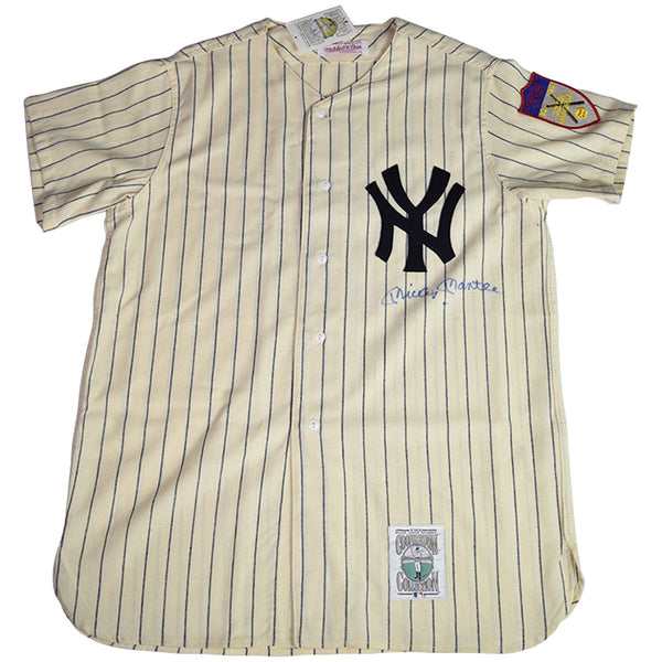 Mickey Mantle Signed 1951 Mitchell   Ness Home Jersey JSA – Steiner Sports 964bb23a886