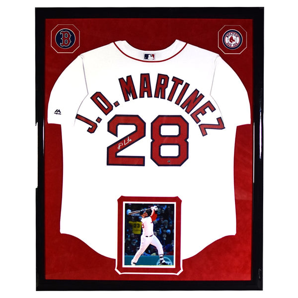 JD Martinez Elite Framed and Signed Boston Red Sox Cool Base Replica H –  Steiner Sports 2c55797a005