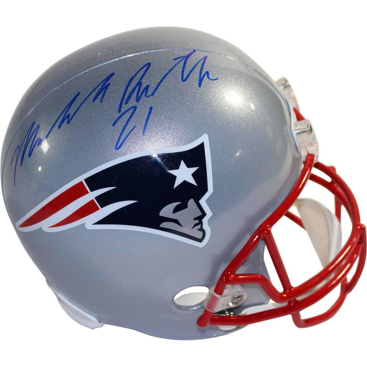 a1cf461ea Malcolm Butler Signed New England Patriots Full Size Replica Helmet ...