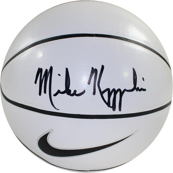 0f53e725cdd1 Mike Krzyzewski Duke Blue Devils Signed Nike Elite White Panel Basketb –  Steiner Sports