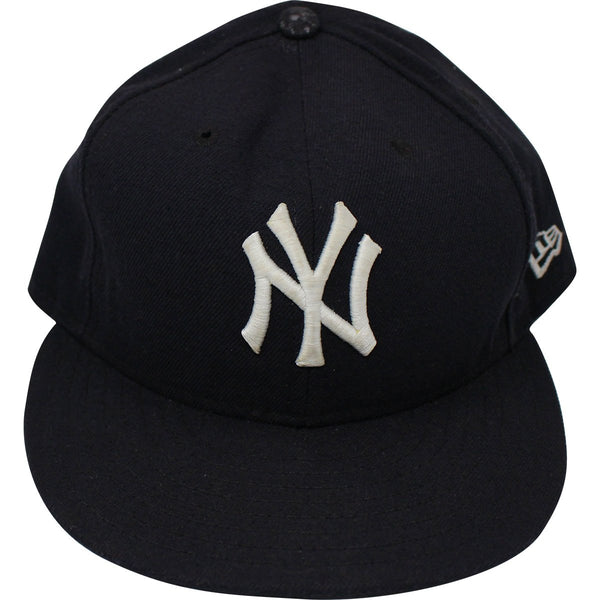 28cc503bbf8 Brett Weber New York Yankees 2017 Game-Issued Navy White Hat (JC 00946 –  Steiner Sports