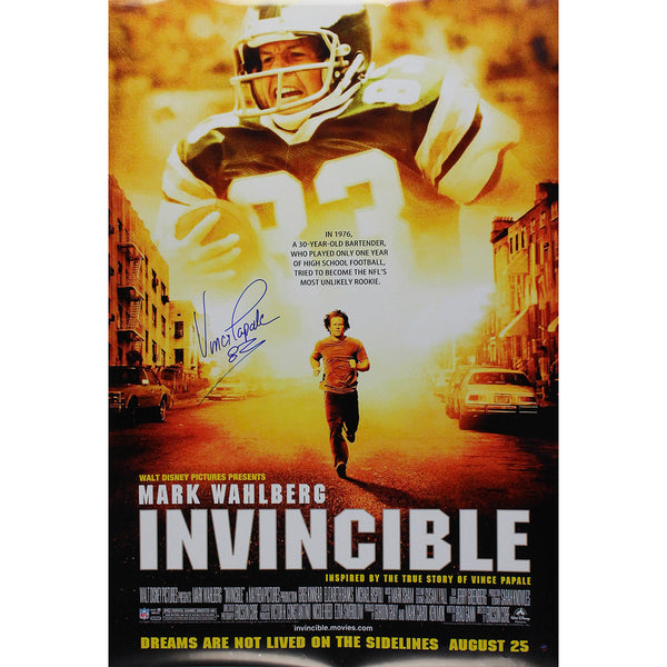 Vince Papale Signed Invincible 27x40 Movie Poster Steiner Sports