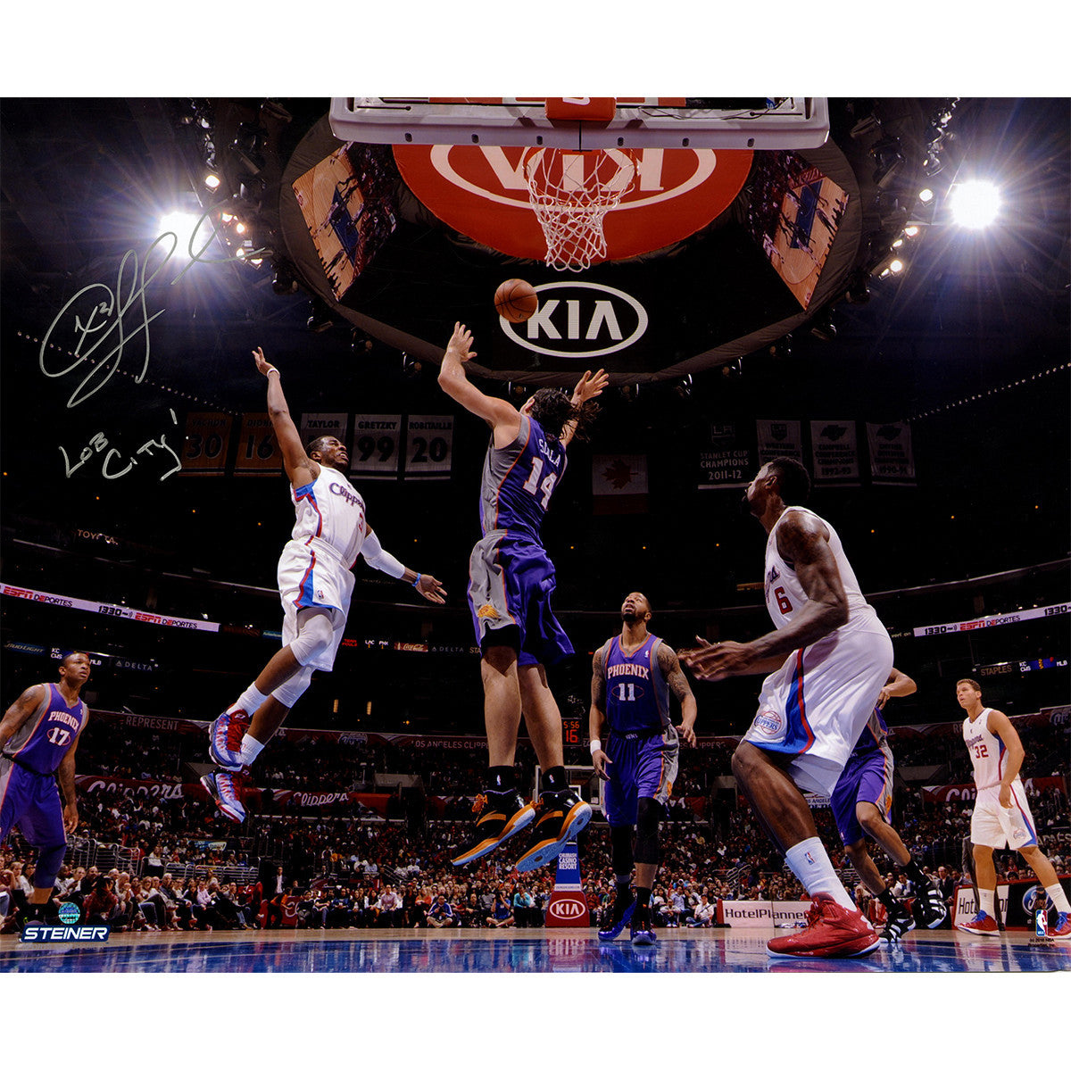 1ff0577d63b Chris Paul Signed Tossing an Ally-oop vs Phoenix Suns 16x20 Photo w  Lob  City Insc ...