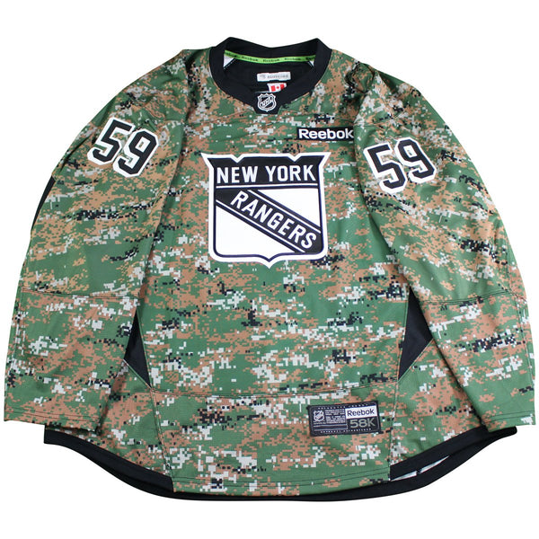 Caslen New York Rangers  59 Military Appreciation Camo Team Issued Jer –  Steiner Sports cb96be69b76