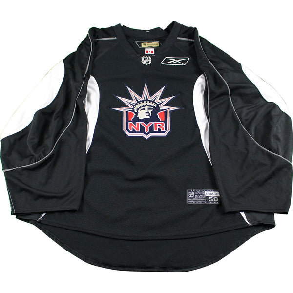 New York Rangers Black and White Used Liberty Logo Practice Jersey (Si –  Steiner Sports fc3b1fbfe4d