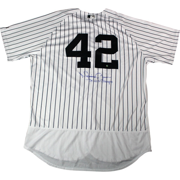 Mariano Rivera Signed New York Yankees  42 Authentic Pinstripe Jersey w