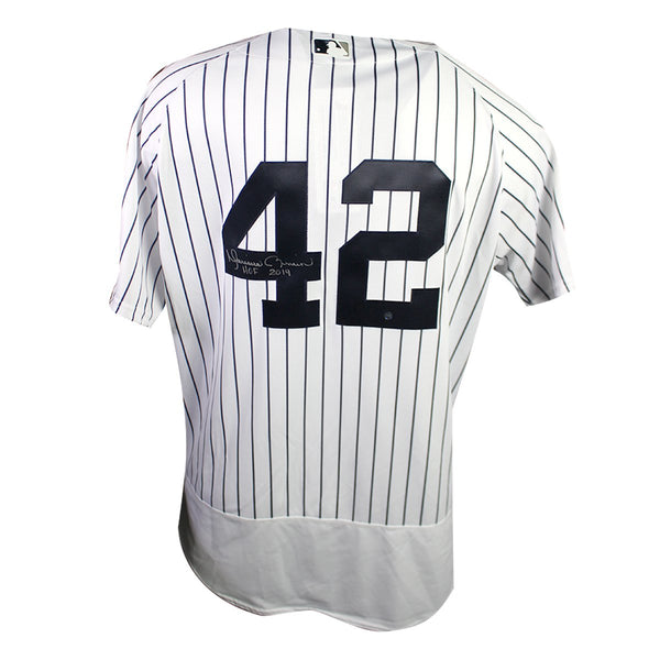 ca0e5f65c Mariano Rivera New York Yankees Signed New York Yankees  42 Authentic  Pinstripe Jersey with MLB Hall Of Fame Logo Patch and Inscribed