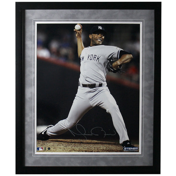 5c46a2bab52 Mariano Rivera Signed and Framed 500th Save 16x20 Photo -Flat black fr –  Steiner Sports