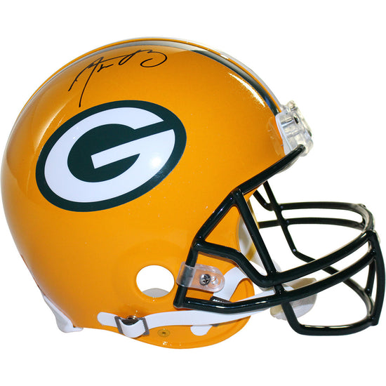 4ac95013d5f Aaron Rodgers Signed Authentic Green Bay Packers Riddell Pro Line Helmet  (Fanatics Auth)